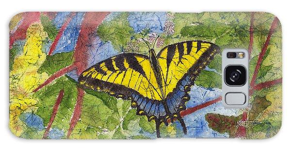 Tiger Swallowtail Watercolor Batik On Rice Paper Galaxy Case