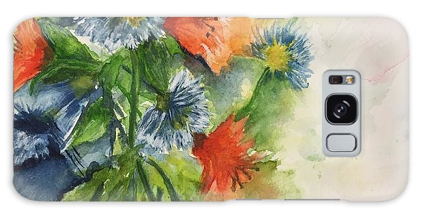 Tigerlilies And Cornflowers Galaxy Case by Lucia Grilletto