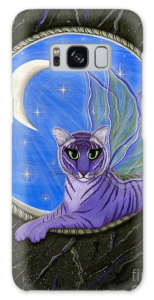 Tigerpixie Purple Tiger Fairy Galaxy Case by Carrie Hawks