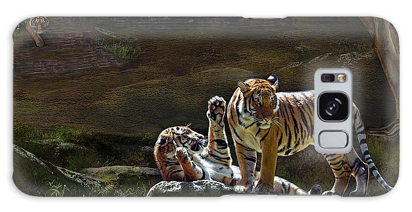 Tigers In The Night Galaxy Case