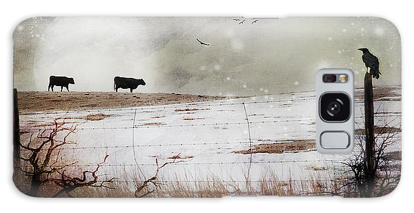 'til The Cows Come Home Galaxy Case by Theresa Tahara
