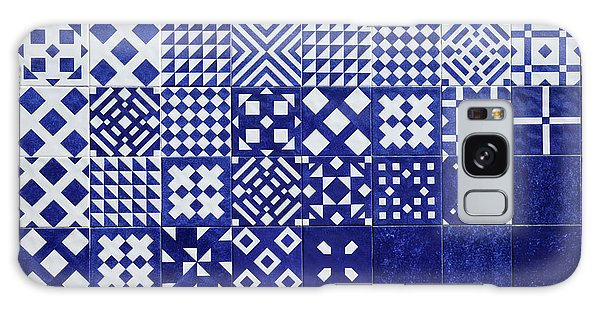 Tile Blue Background Galaxy Case