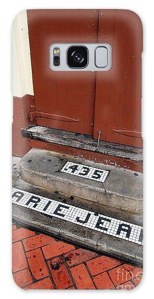 Tile Inlay Steps Marie Jean 435 Wooden Door French Quarter New Orleans Galaxy Case