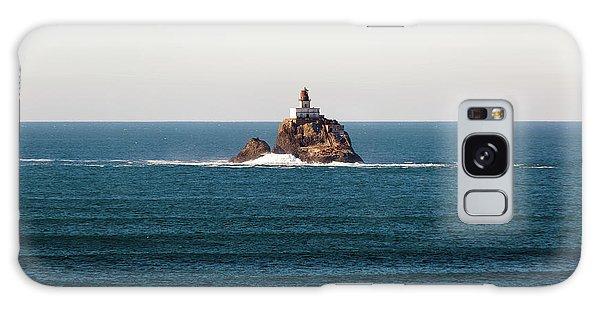 Tillamook Rock Lighthouse On A Calm Day Galaxy Case