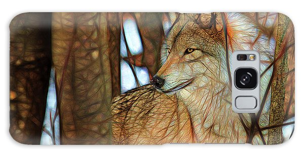Timber Wolf Colorful Art Galaxy Case
