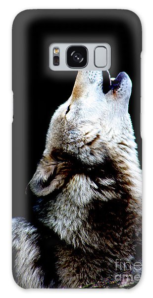 Time To Howl Galaxy Case by Nick Gustafson