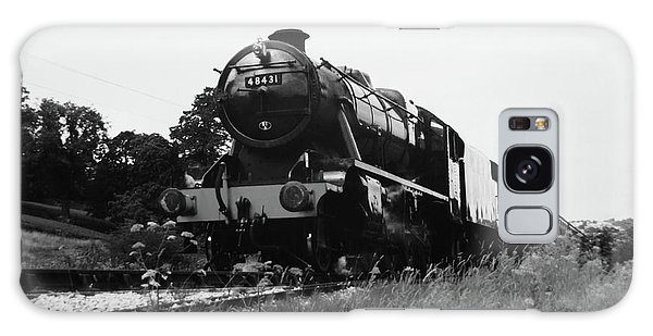 Time Travel By Steam B/w Galaxy Case by Martin Howard