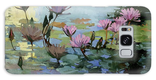 Times Between - Water Lilies Galaxy Case