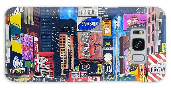 Galaxy Case - Times Square by Autumn Leaves Art
