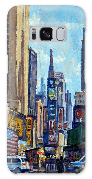 Times Square Morning New York City Galaxy Case