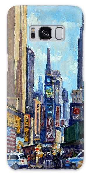 Times Square Morning New York City Galaxy Case by Thor Wickstrom