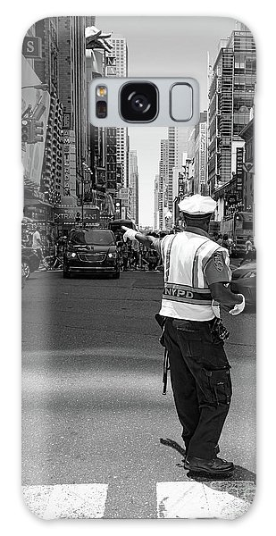 Times Square, New York City  -27854-bw Galaxy Case
