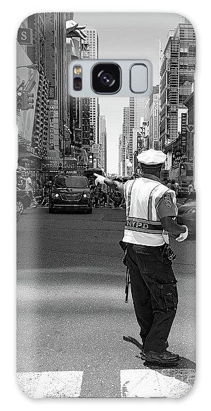 Times Square, New York City  -27854-bw Galaxy Case by John Bald