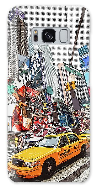 Style Galaxy Case - Times Square Pop Art by Delphimages Photo Creations