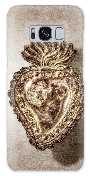 Sacred Heart Galaxy Case - Tin Heart by YoPedro