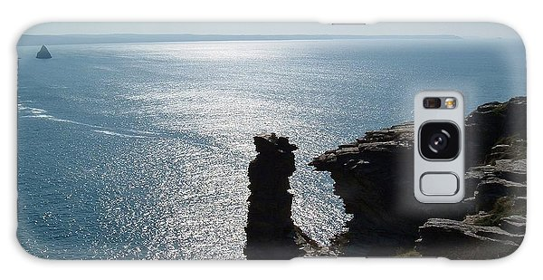 Tintagel Stack Cornwall Galaxy Case