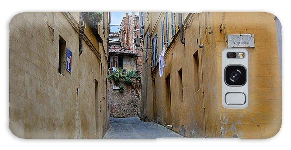 Tiny Street In Siena Galaxy Case