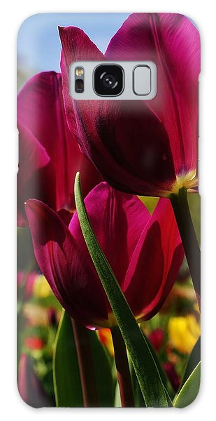 Tip Toe Through The Tulips Galaxy Case