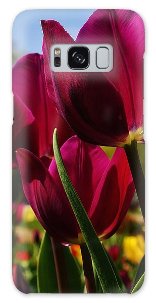 Tip Toe Through The Tulips Galaxy Case by Bruce Bley