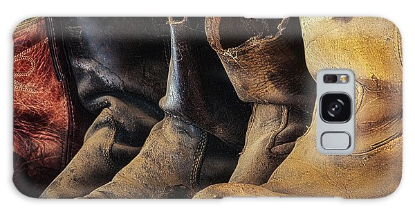 Tired Boots Galaxy Case by Laura Pratt