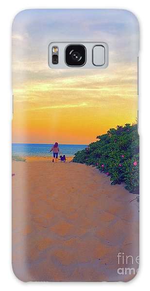 To The Beach Galaxy Case by Todd Breitling