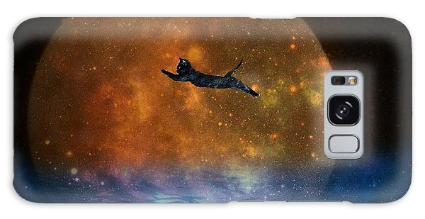 To The Moon And Back Cat Galaxy Case
