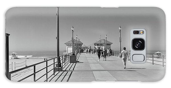 To The Sea On Huntington Beach Pier Galaxy Case