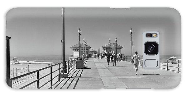 Galaxy Case featuring the photograph To The Sea On Huntington Beach Pier by Ana V Ramirez
