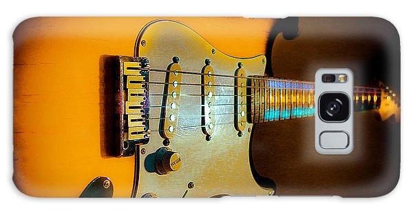 Tobacco Burst Stratocaster Glow Neck Series Galaxy Case