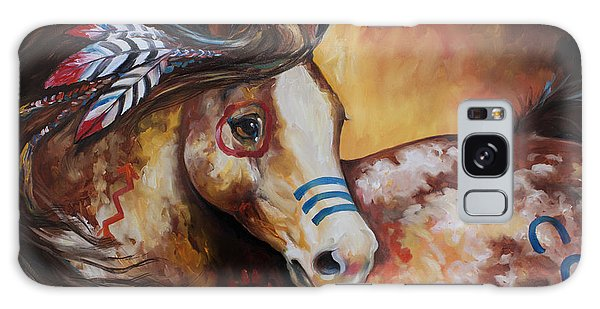 Tobiano Indian War Horse Galaxy Case