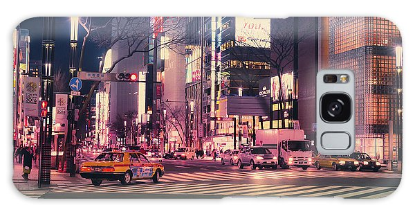 Tokyo Street At Night, Japan 2 Galaxy Case