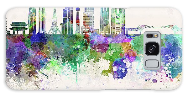 Tokyo V3 Skyline In Watercolor Background Galaxy Case