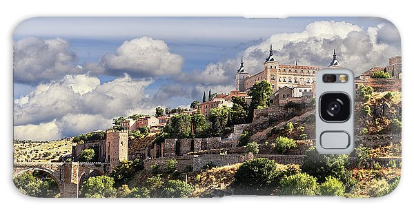 Toledo. Majestic Stone Fortress The Alcazar Is Visible From Any Part Of The City Galaxy Case