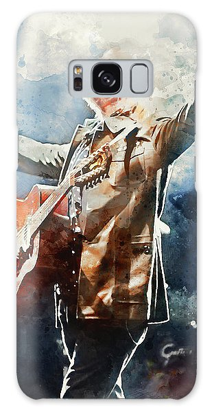 Tom Petty - Watercolor Portrait 13 Galaxy Case