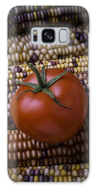 Indian Corn Galaxy Case - Tomato On Indian Corn by Garry Gay