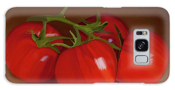 Tomatoes 01 Galaxy Case by Wally Hampton