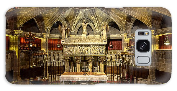 Tomb Of Saint Eulalia In The Crypt Of Barcelona Cathedral Galaxy Case by RicardMN Photography