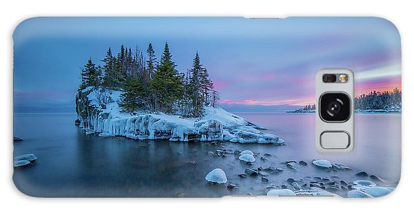 Tombolo Sunset // North Shore, Lake Superior  Galaxy Case