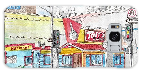 Tony Burger, Downtown Los Angeles, California Galaxy Case