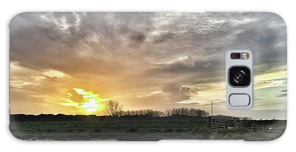Tonight's Sunset From Thornham Galaxy Case by John Edwards