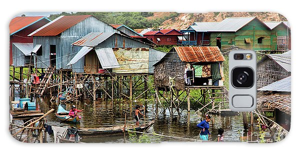 Tonle Sap Boat Village Cambodia Galaxy Case