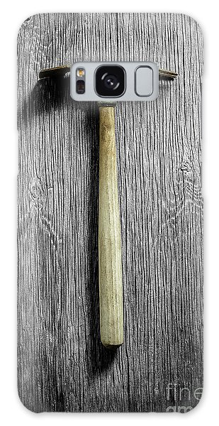 Tools On Wood 16 On Bw Galaxy Case by YoPedro