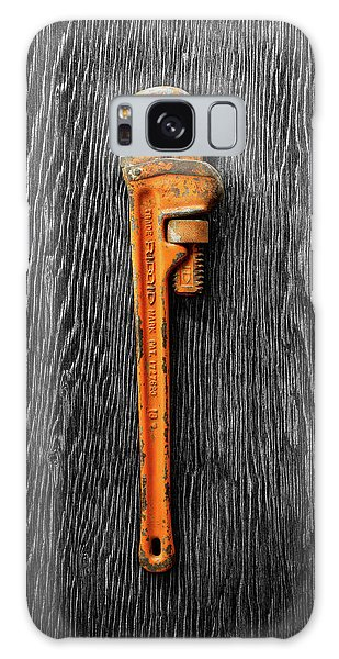 Tools On Wood 60 On Bw Galaxy Case by YoPedro
