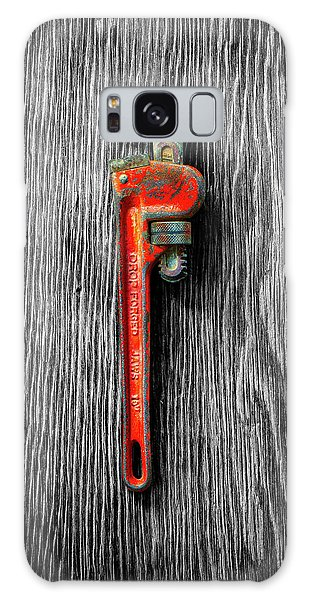 Tools On Wood 62 On Bw Galaxy Case by YoPedro