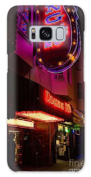 Topless Bar Signs At Night In North Beach San Francisco Galaxy Case by Jason Rosette