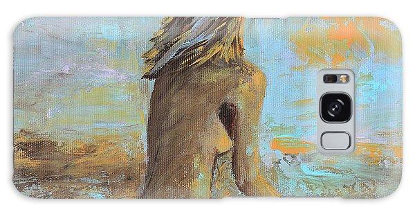 Topless Beach Galaxy Case by Donna Blackhall