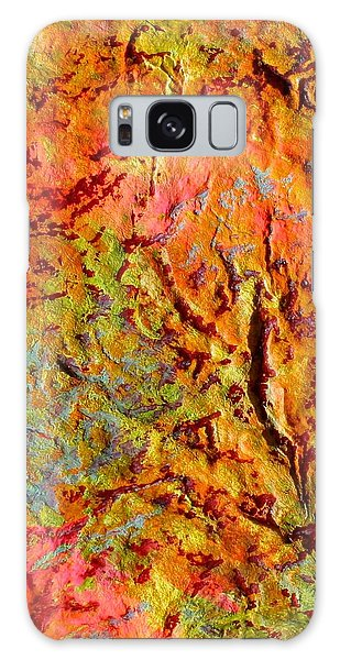 Topographical Map Color Poem Galaxy Case by Polly Castor