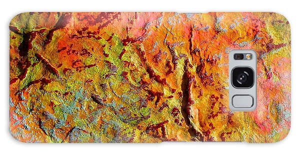 Topographical Map Color Poem Galaxy Case
