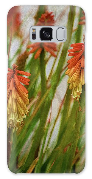 Torch Lily At The Beach Galaxy Case by Sandi OReilly