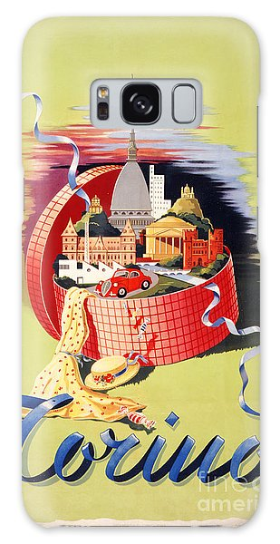 Torino Turin Italy Vintage Travel Poster Restored Galaxy Case